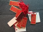 "15 Hang Tags ""Gold 333"" No224"