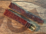 16 mm XS Vintage Alligator Strap No 763