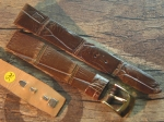 18 mm Vintage Alligator Strap No 744