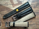20/16 mm black faux Shark Chrono Strap No 350