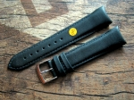 20/18 mm black curved end Chrono Strap No 345