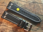 24 mm Calf Leather custom Strap No 582