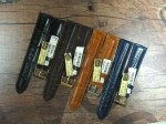 Alligator Leather Straps avail. in 18,19,20 and 22 mm