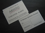 ARISTO Guarantee Cards No 162