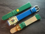 Character Watch Straps  18/16 mm green No 283