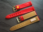 Character Watch Straps  18/16 mm red No 288