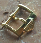 HEUER 16 mm gold plated Buckle