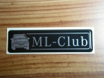Mercedes Benz ML Club Stickers No 238