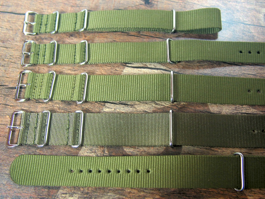 NATO Nylon Straps Olive avail. in 18,20,22 and 24 mm
