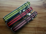 NATO Regimental Straps 18,20,22 and 24 mm No 1116/24/25