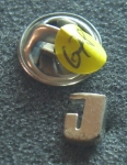 Pin J solid Sterling Silver No 678
