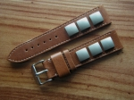 Rivet Strap by Jürgens Germany 22/20 mm brown No84