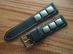 Rivet Strap by Jürgens Germany 22/20 mm black No85