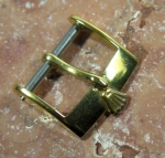 ROLEX vintage 14 mm buckle y gold plated  No 2