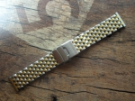 ROWI 22/20 mm BiColor solid Steel Bracelet made in Germany  4252