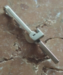 Tie Clip J solid Sterling Silver No 684
