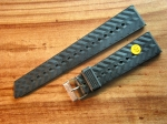 Vintage Rubber Strap 20 mm from the 70s No128