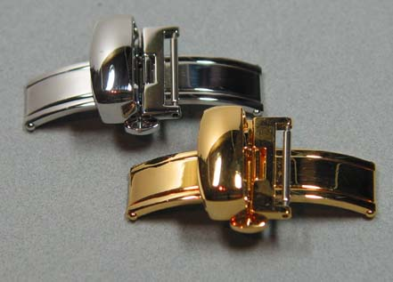 High end quality ss  double folding deployant clasps